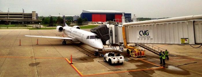 Gate A12 is one of Cincinnati Airport.