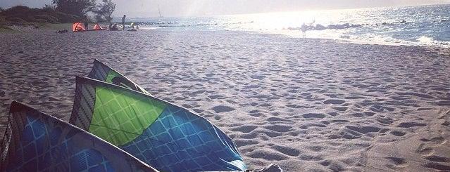 Naish Beach is one of Gretta Kruesi's Top Spots to Surf the Skies.