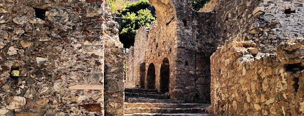 Mystras castle town is one of greece.