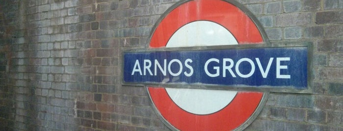 Arnos Grove London Underground Station is one of Tube Challenge.