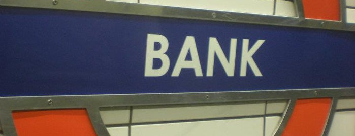 Bank London Underground and DLR Station is one of Zone 1 Tube Challenge.