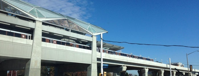 Tysons Corner Metro Station is one of WMATA Train Stations.