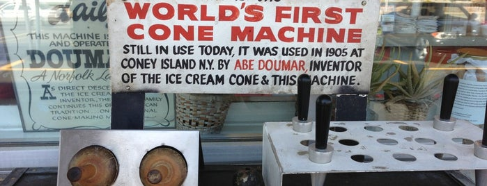Doumar's Cones & Barbecue is one of My Places of Interest.