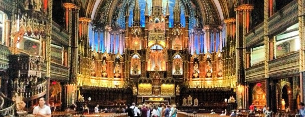 Notre-Dame Basilica of Montréal is one of montreal.