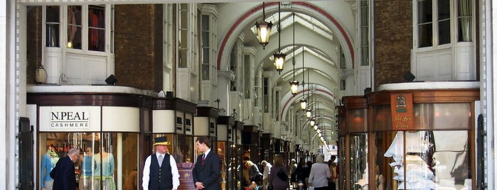 Burlington Arcade is one of London City Badge - London Calling.
