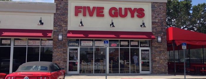 Five Guys is one of Places I frequent.