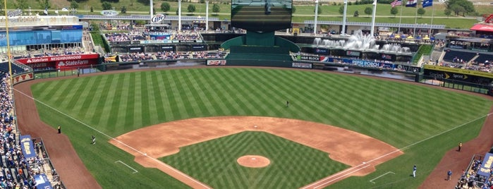 Kauffman Stadium is one of Major League Ballparks.