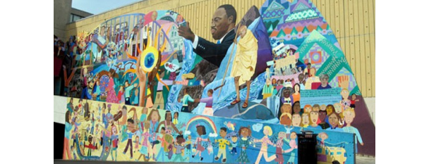 """Further the Dream"" Mural is one of Must-See African American Historical Places In US."