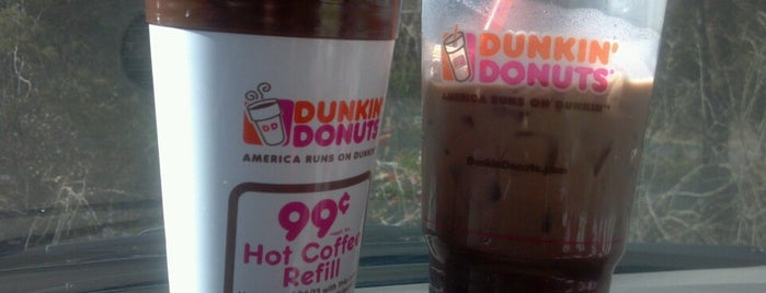 Dunkin' Donuts is one of Love to go.