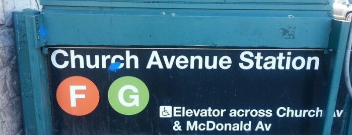 MTA Subway - Church Ave (F/G) is one of MTA Subway - F Line.