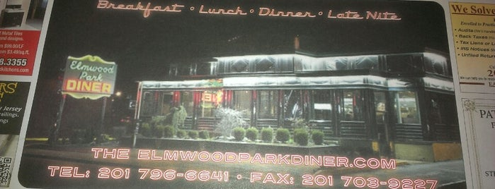 Elmwood Park Diner is one of Cream of turkey soup is the best here!!!.