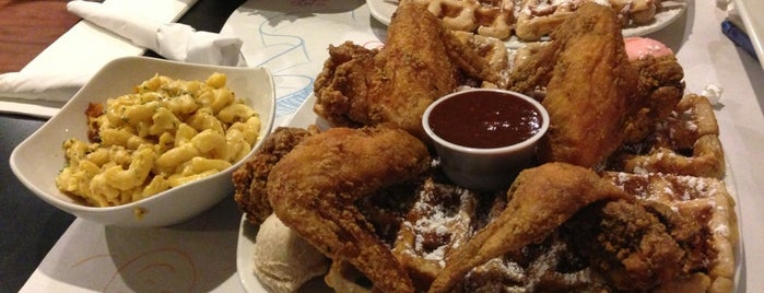 Dame's Chicken & Waffles is one of Good Eats.