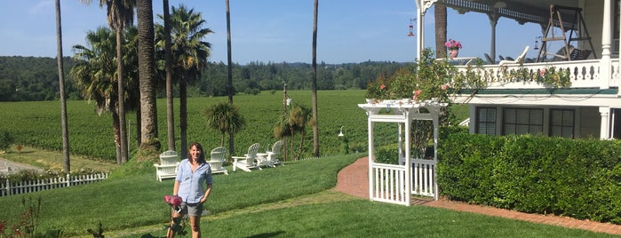Raford House Bed and Breakfast Inn is one of Gorgeous, Burgeoning Wine Road Gardens.