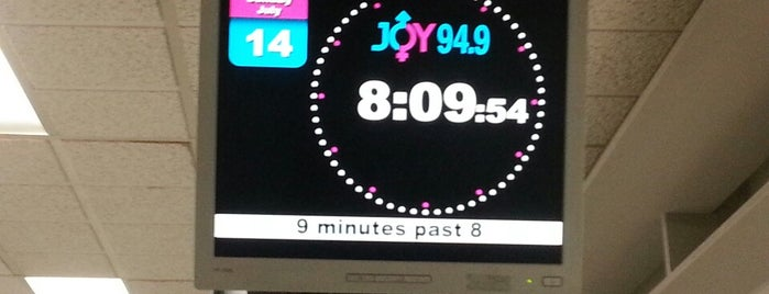 JOY 94.9 is one of Tim's tips.