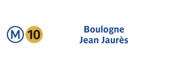 Métro Boulogne – Jean Jaurès [10] is one of Stations de metro a Paris.