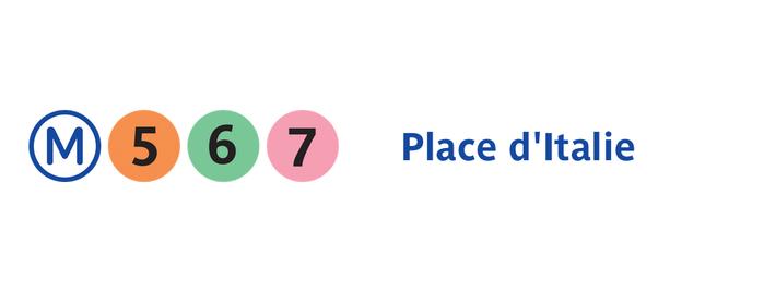 Métro Place d'Italie [5,6,7] is one of Stations de metro a Paris.