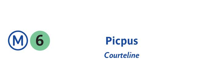 Métro Picpus [6] is one of Métro de Paris.
