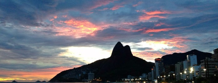 Praia do Leblon is one of Rio de Janeiro's best places ever #4sqCities.