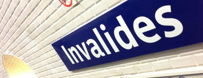 Métro Invalides [8,13] is one of Paris, FR.