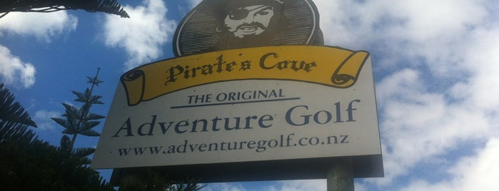 Pirate's Cove Adventure Golf is one of Fun Group Activites around New Zealand.
