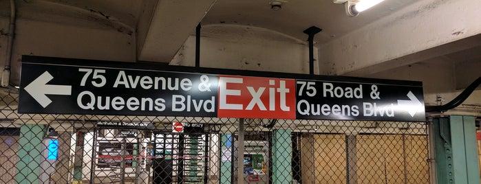 MTA Subway - 75th Ave (E/F) is one of MTA Subway - F Line.