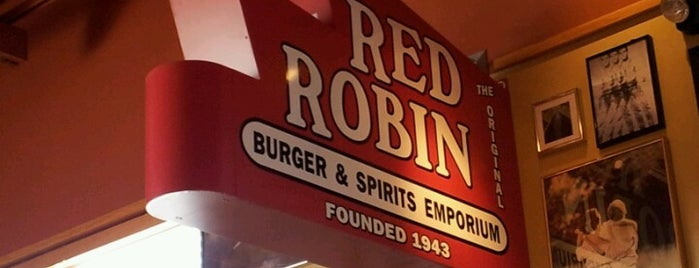 Red Robin Gourmet Burgers is one of Top picks for Sandwich Places.