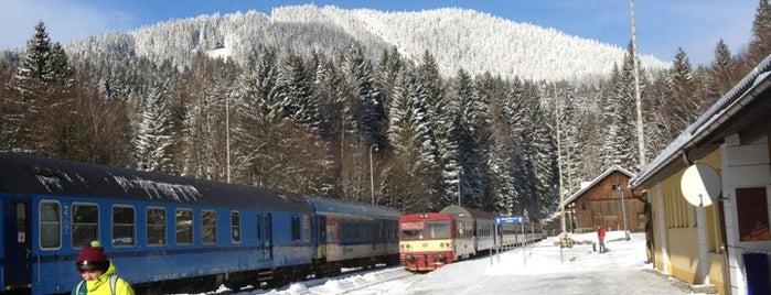 Železniční stanice Špičák is one of Železniční stanice ČR: Š-U (12/14).