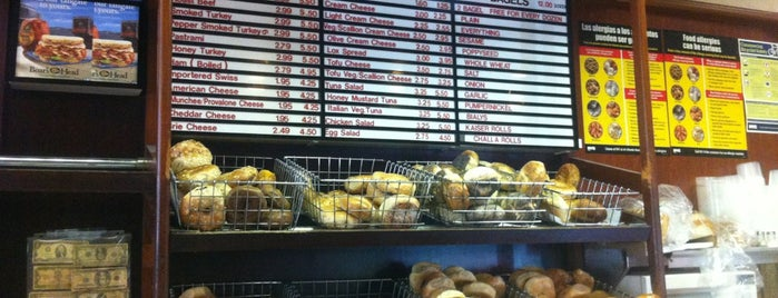 Bagels & Schmear is one of NY Bagels to Try.