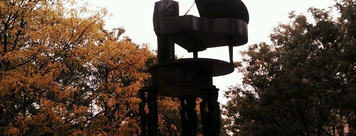 Duke Ellington Memorial by Robert Graham is one of Iconic NYC Outdoor Art.