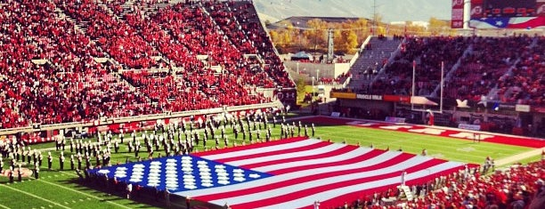 Rice-Eccles Stadium is one of Pac-12 Football Stadiums.