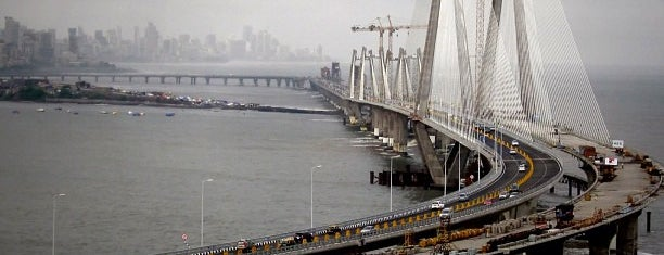Bandra-Worli Sea Link (राजीव गांधी सेतू) is one of Mumbai Maximum.