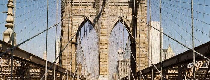 Brooklyn Bridge is one of Lufthansa's tips.