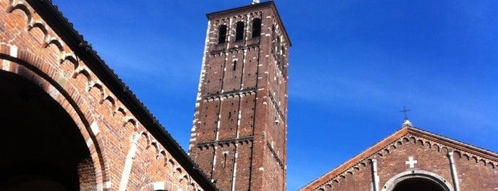 Basilica di Sant'Ambrogio is one of Milan City Badge - Milano da bere.