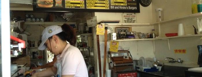 Bill & Hiroko's hamburgers is one of Chris' LA To-Dine List.