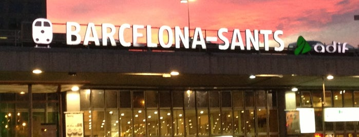 Barcelona Sants Railway Station is one of Habituales.