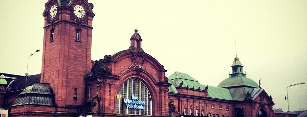 Wiesbaden Hauptbahnhof is one of European places I've visited..