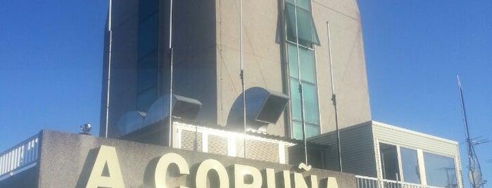 A Coruña Airport (LCG) is one of Aeropuertos.