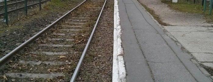 Rákosfalva (H8, H9) is one of Hév megállók.