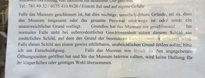 Museum der unerhörten Dinge is one of Lange Nacht der Museen 2012.