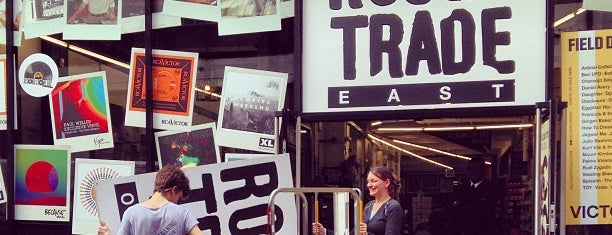 Rough Trade East is one of Shoreditch.