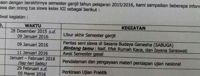 SMA Negeri 8 Bandung is one of Top 5 High School in Bandung.