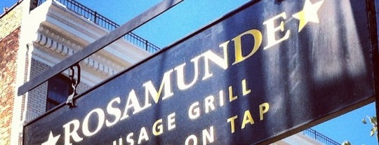 Rosamunde Sausage Grill is one of NYC to try.