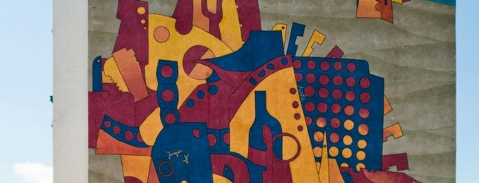 Jonas Zagorkas, Mural na 1000-lecie Gdanska, 1997 is one of Murale Gdańsk Zaspa.