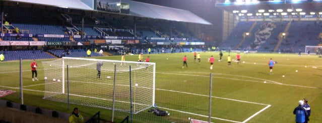 Fratton Park is one of Football grounds visited.