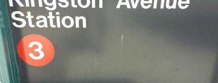 MTA Subway - Kingston Ave (3) is one of NYC Subways 4/5/6.