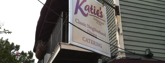 Katie's Restaurant & Bar is one of DINERS DRIVE-INS & DIVES.