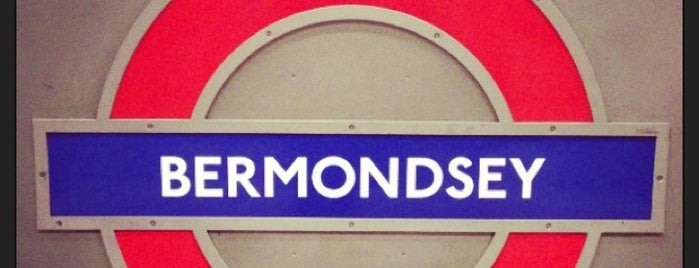 Bermondsey London Underground Station is one of Tube Challenge.