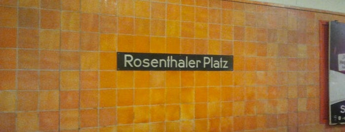 U Rosenthaler Platz is one of Besuchte Berliner Bahnhöfe.