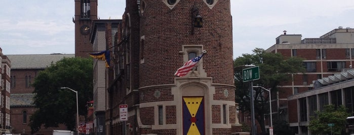 The Harvard Lampoon is one of B. Locations.