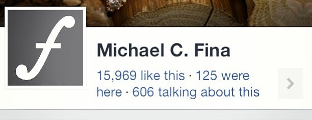 Michael C. Fina is one of My Places.